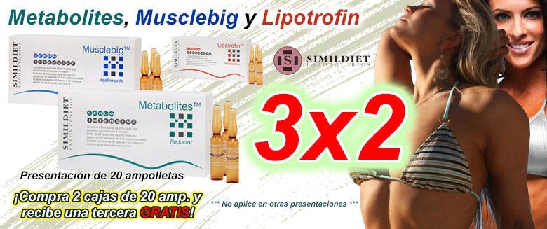 Simil Diet 3x2 - Metabolites, Musclebig y Lipotrofin