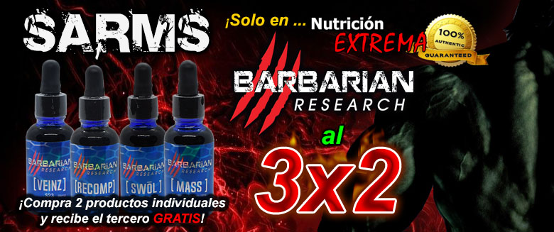 SARMS de Barbarian Research al 3x2!